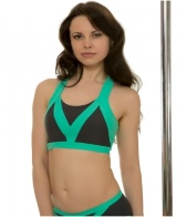 Pole Candy Sandy top grey-mint